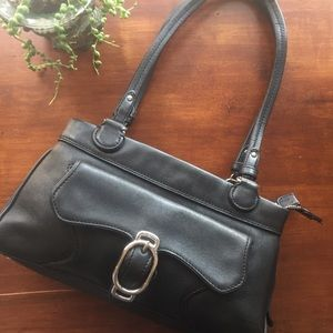 Cole Haan Black leather Alexa handbag